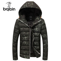 green hooded parka Australia - 2018 Winter Jackets Men's Coats Thick Warm Men's Parkas 4XL Casual Cotton Padded Male Jackets Hooded