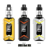 Wholesale light mod kit - 100% Original OBS Bat Kit VW TC 218W 7 Colors LED Lights Dual 18650 Battery Box Mod 5ml Damo Subtank Genuine
