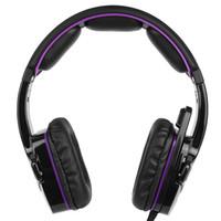 tableta púrpura pc al por mayor-Gaming Headsets Auriculares SADES SA-930 con micrófono Cancelación de ruido Música Negro púrpura para PS4 Nueva PC portátil con Xbox One