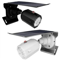 Wholesale solar panel for lighting for sale - 10 LED Solar Camera Light Waterproof Wall Lamp Spotlight V Mah Solar Panel Led Outdoor Lighting With Three Modes For Garden Wall Yard