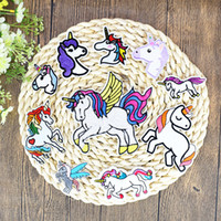 10 Styles Unicorn Patches for Clothing Dress Iron on Transfer Applique Kids Fashion Patches for Jeans Bags DIY Sew on Embroidery Stickers