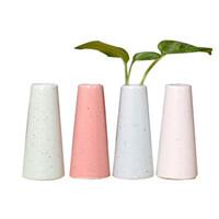 Wholesale modern round vase - 4pcs Modern Minimalist Ceramic Vases Home Art Decoration Flower Arrangement Color Round Small Flower Vase Set