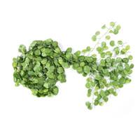 künstliche trauben-efeu-pflanzen großhandel-Künstliche Blumen 12 Teile / los Lange Künstliche Pflanzen Green Ivy Leaves Künstliche Klettern Tiger Weinrebe Gefälschte Blätter Hochzeit