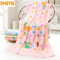 Wholesale Modern Swimming - SMAVIA Modern Printed Super Soft Bath Towel Microfiber Fabric Absorbent Bath Beach Towel Swim Shower 70*140CM 1pc 6 color option