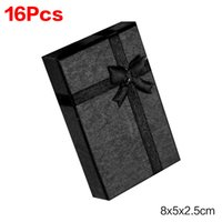 Wholesale Cheap Gift Bows - Black Red Pink Cheap+Hot Selling 8x5x2.5cm jewelry earring bracelet ring gift box black square carton bow case package