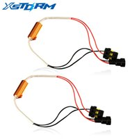 ingrosso h11 led resistenza-2 PZ H4 H7 H8 H9 9005 HB5 9006 HB4 LED Resistenza Decodificatore lampadina 50w Canbus Errore Canceller Wire Harness Adapter per Auto Fendinebbia