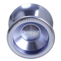 truques de yoyo 1a venda por atacado-Cool Yo-Yo De Alumínio de Alta Velocidade Profissional T5 Overlord Truque de Cordas de Luz YOYO Bola Brinquedo Mágico