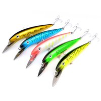 Wholesale 5 color cm g Minnow Plastic Hard Baits Lures Fishing Hooks Hook Artificial Bait Pesca Fishing Tackle Accessories