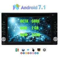 ingrosso impianto stereo stereotipo gps tv-In Dash Car DVD Player Doppio Din Android 7.1 Octa-core 2 GB di RAM + 32 GB ROM 6.2