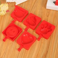 Wholesale diy microwave for sale - Group buy DIY Ice Cream Mold Food Grade Silicone Cartoon Mould Microwave Oven Cake Baking Tool Love Shape Red sj V