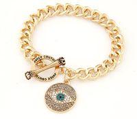 ingrosso braccialetto degli occhi dell'angelo-Bracciale temperamento a catena in argento stile europeo e americano