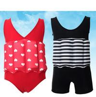 vente de bain pour bébé achat en gros de-Nouveau style vente chaude bambins bébé garçon filles flottabilité maillot de bain amovible flotteur costume maillot de bain maillot de bain