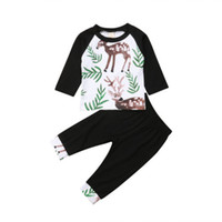 0e70eb9686e73 Baby Kid Flower T-shirt Long Sleeve Tops Pants Outfits Clothes Set 2pcs  Toddler Kids Baby Boy Clothing Cotton 6M-4T