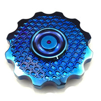 Wholesale Copper Spinners - Gear Sunflower Fidget Spinner Top Quality Brass Copper High Speed Ceramic 608 Bearing Heavy EDC Toy Circle