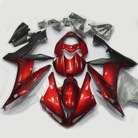 ingrosso yamaha yzf r1-Allgt Motorcycle Deep Red Black Kit completo carena verniciata Carrozzeria per Yamaha YZF R1 2004 2005 2006 Carene per stampi ad iniezione