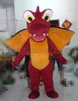 ingrosso vendite di giocattoli adulti-il formato rosso della mascotte del costume della mascotte del dinosauro libero, il partito di lusso di carnevale del giocattolo della peluche della mascotte del dinosauro fresco celebra le vendite della fabbrica della mascotte.