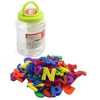 Wholesale education piece - 80Pcs Set Fridge Magnet Letters Education Alphabet Numbers Baby Toys For New