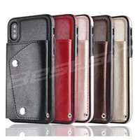 Wholesale samsung note purse - For Samsung galaxy Note Iphone X in Premium Wallet Case TPU Back Cover PU Flip Leather Detachable Purse phone cases