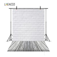 Wholesale canvas scenic paintings - Laeacco Brick Wall Wooden Floor Portrait Newborn Baby Photography Backgrounds Customized Photographic Backdrops For Photo Studio