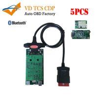 obd multi оптовых-5шт vd tcs CDP Pro для легковых грузовиков 3in1 Multi-language с синим pcb8.0 OBD OBD2 OBDII диагностический инструмент сканирования лучшая цена