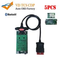 obd multi оптовых-5pcs vd tcs CDP Pro для грузовых автомобилей 3in1 multi-language с синим pcb8.0 OBD OBD2 OBDII диагностический инструмент сканирования лучшая цена