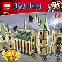 Wholesale building blocks castle - New Arrival LEPIN 16030 1340pcs Harry Potter Hogwart's Castle Building Blocks Kit Set Building Blocks Bricks Toys Fit For 4842