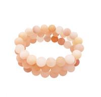 Wholesale peach gemstone for sale - Group buy 10mm Matte Peach Aventurine Bracelet Gemstone Bracelet Aventurine Round Beads Elastic Bracelet Good Luck Bracelet