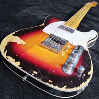 Wholesale boost for guitar resale online - Rare Master built Andy Summers Tribute Heavy Relic Vintage Sunburst Tele TL Electric Guitar Active Wires Boost Tuner H Switch to S Pickup