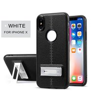 Wholesale Plating Thickness - Kickstand Thickness Cover Build In Magnet Plate TPU Case For Iphone x 8 7 6 6s Plus Samsung J3 J5 J7 2017 Huawei P10 Plus Retail Package