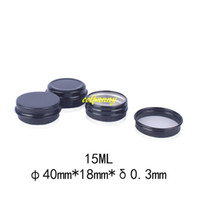 Wholesale Small Travel Jars - 500pcs lot 15g Black Aluminum Jar 15ML Empty Small Lip Oil Cosmetic Eye Cream Bottle Batom Travel Lotion Tin Container