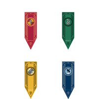 Hot selling 2018 New Harri Potter Party Supplies College Flag Banners Gryffindor Slytherin Ravenclaw Kids Gift Toys Magic Cosplay Home Decoration