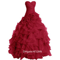 ingrosso migliori abiti da sposa regali-Tiered Ruffles Ball Gown Organza Abito da sposa Abito da sposa Lunga Perla Dusty Pink Vintage Formall Occasion Dress Foto reali