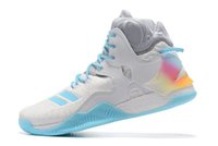 Wholesale d size shoes online - Hot Seller D Rose Casual Shoes Men Boots VII Blue Basketball shoes Christmas Sneakers Derrick Rose Sports Sneaker Size