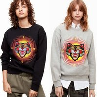 New Fashion donna e giacca felpa da uomo Studenti Hip-hop high street top testa di gatto ricamo marca G unisex Collo tondo cappotto in pile