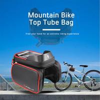 iphone mobile tube venda por atacado-WHEELUP Bicicleta Ciclismo Bag Tubo À Prova D 'Água Top Quadro Frontal Bicicleta Bag Pannier Dupla Bolsa Iphone Titular Pannier Celular