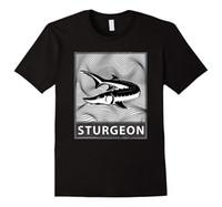 diseños modernos de la camiseta al por mayor-Sturgeon Fish Fisherman T Shirt - Art / Modern Design Print Camisetas Hombre Summer Style Fashion Top Tee Casual Camiseta estampada