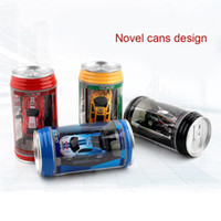 Wholesale Micro Racer Toy - Mini Coke Can Remote Control car racer Speed RC Micro Racing Car Speed Toy Cars Gift Kids collection 8COLORS FFA237 48pcs Wind-up Toys