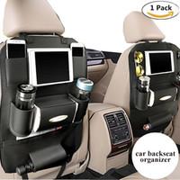 Wholesale Holder For Umbrella - PU Leather Backseat Car Organizer Seat Pocket Protector Storage for Ipad Mini, iPhone, Cup Holder, Toy, Umbrella, Tissue Box (1pc)