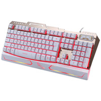 Wholesale red computer keyboard - ZGB G500 USB Wired Mechanical Keyboard Blue Red Purple Switches Gamer Keyboard with RGB Backlight Keys for PC Computer Gaming