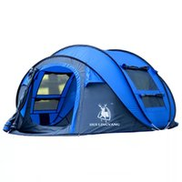 Wholesale blue accounting - New 3-4 people waterproof and rainstorm - proof one-bedroom does not need to set up automatic quick account of the camping tent