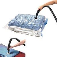sacos comprimidos a vácuo salvar venda por atacado-Hot Saco De Armazenamento De Saco De Vácuo Transparente Fronteira Dobrável Extra Grande Organizador Comprimido Saving Space Seal Bags V4899