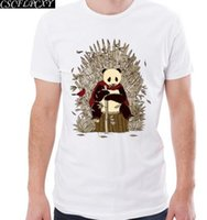 Wholesale vintage pug - Game Of Thrones Men T-shirt Pug OF Thrones Printed Funny t shirts Short Sleeve Casual o-neck Hipster Vintage PandaTopsCSCFLPCXY