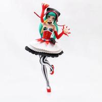figuras de brinquedo miku venda por atacado-Anime modelo figura Hatsune Miku gato menina ação clown versão miku figuras coleção brinquedos com caixa de presente de natal F7217