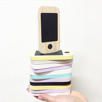 ingrosso miniature di halloween-Kid's Wooden Phone Toys Bambini Nordic Home Figurine Miniature Early Message Board Mobile Phone Chalkboard Regali
