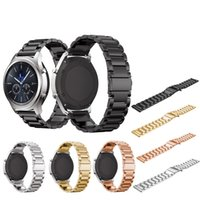 Wholesale s3 tools resale online - Quick Release mm Black Gold Full Stainless Steel Watch Band Strap For Samsung Gear S2 S3 Smart Watch Classic With Free Tool