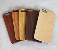 iphone silikon holz fall großhandel-2018 neujahr verkauf bambus handmade für iphone x holz + silikon case holz abdeckung für iphone 7/8 plus xs max samsung galaxy s8 s9