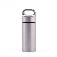 Wholesale capsule container resale online - Stainless Steel Waterproof Case Container Capsule Seal Bottle Holder CNC Survival Emergency Tool X036