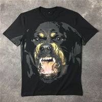 Wholesale famous t shirts brands - 2018 Famous Luxury Brand High Quality new fashion Rottweiler dog tee t shirts for men women cotton
