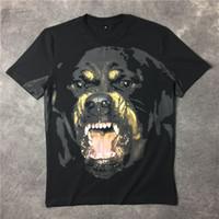 мужская одежда оптовых-2018 Известный роскошный бренд высокого качества новая мода ротвейлер собака тройник футболки для мужчин женщин хлопок