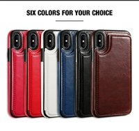 Wholesale I Phone Card Case - Cellphone Accessories Newest Design PU Wallet Leather Cell Phone Case for I phone iphone7 8 x